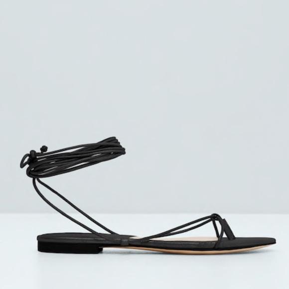 Mango Shoes | Mango Nwt Lace Up Sandals